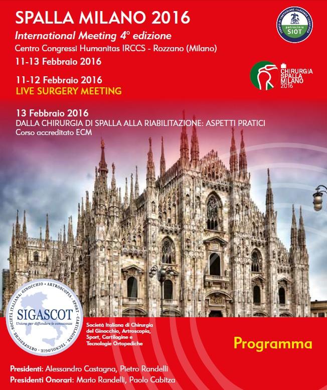 Programm Spalla Milano 2016