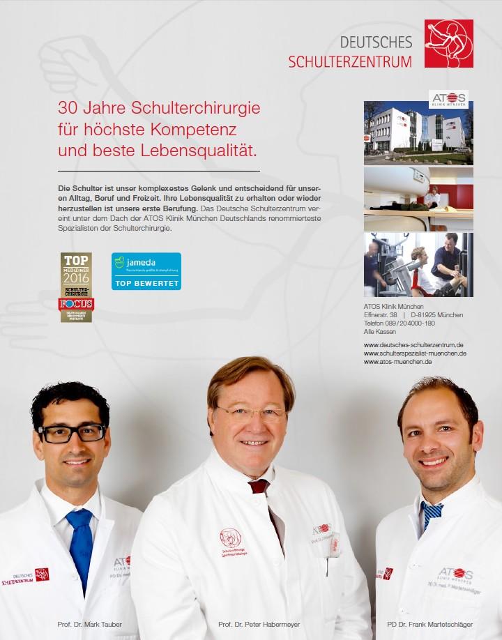 Focus-Gesundheit Ärzte-Liste 2016 Anzeige Orthopädie-Ausgabe