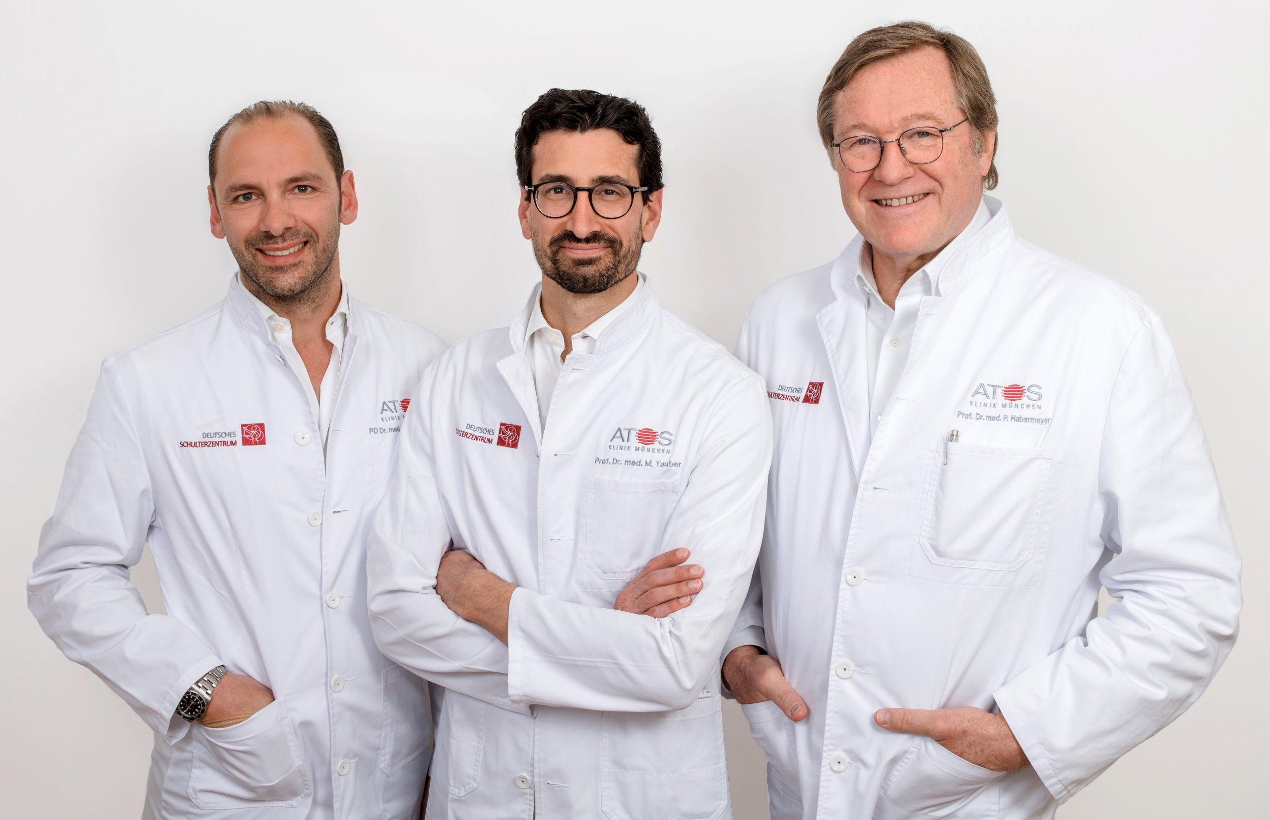 Ärzteteam Deutsches Schulterzentrum München - Prof. Dr. med. Peter Habermeyer, Prof. Dr. med. univ. Mark Tauber, Priv.-Doz. Dr. med. Frank Martetschläger