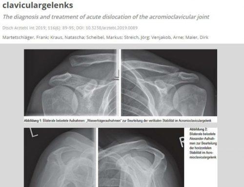 PD Dr. Martetschläger mit aktueller Arbeit zur Diagnostik und Therapie der ACG Instabilität im Deutschen Ärzteblatt