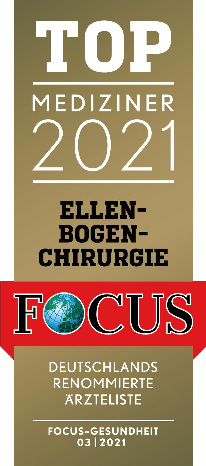 Ellenbogenchirurgie - Prof. Tauber - Prof. Martetschläger - Focus Top-Mediziner 2021 Deutschland