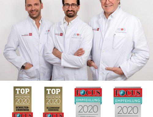 Prof. Habermeyer, Prof. Tauber, PD Dr. Martetschläger in FOCUS-ÄRZTELISTE 2020