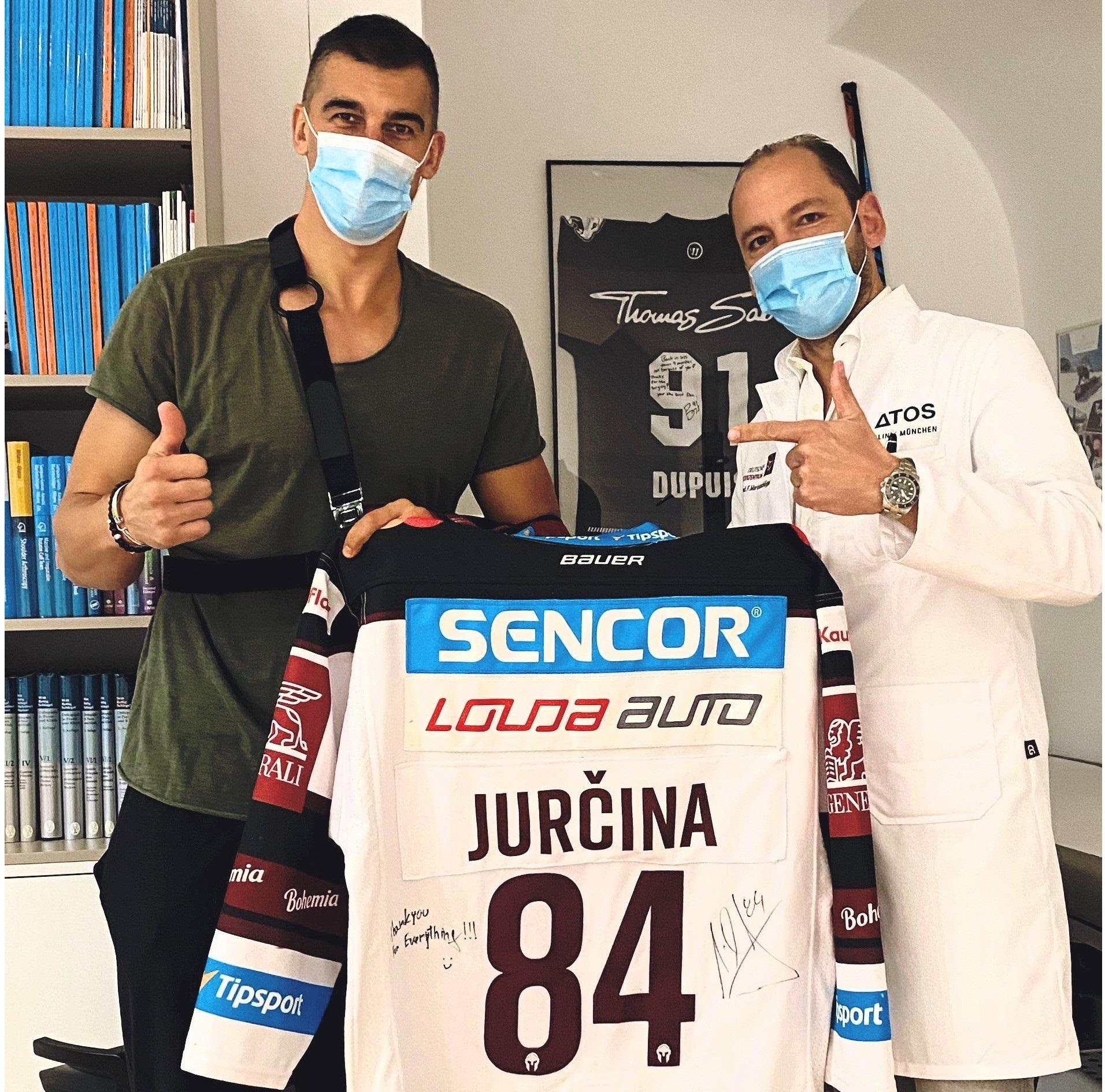 Erfolgreiche Operation an Eishockeyspieler Milan Jurcina