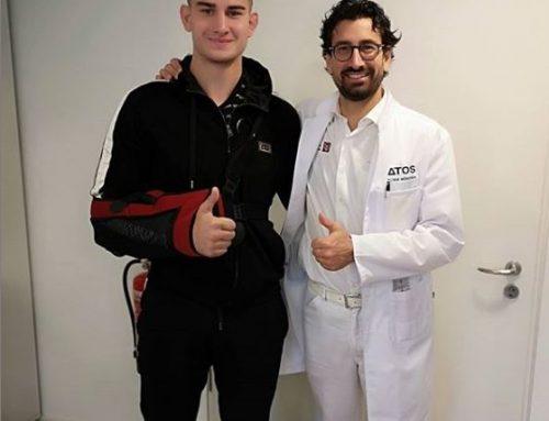 Prof. Dr. med. Mark Tauber operiert den russischen Judo-Profi Kirill Dziuba