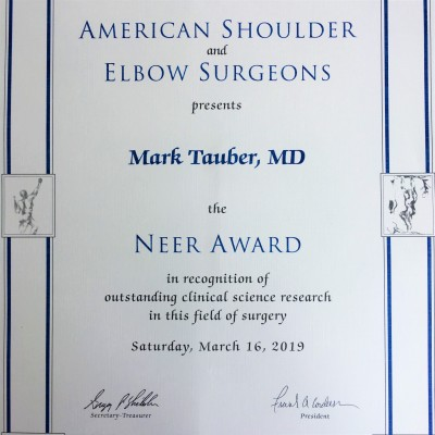Neer Award Tauber