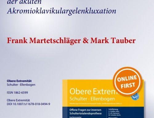 Neue Publikation zur stadiengerechten Therapie der ACG Luxation