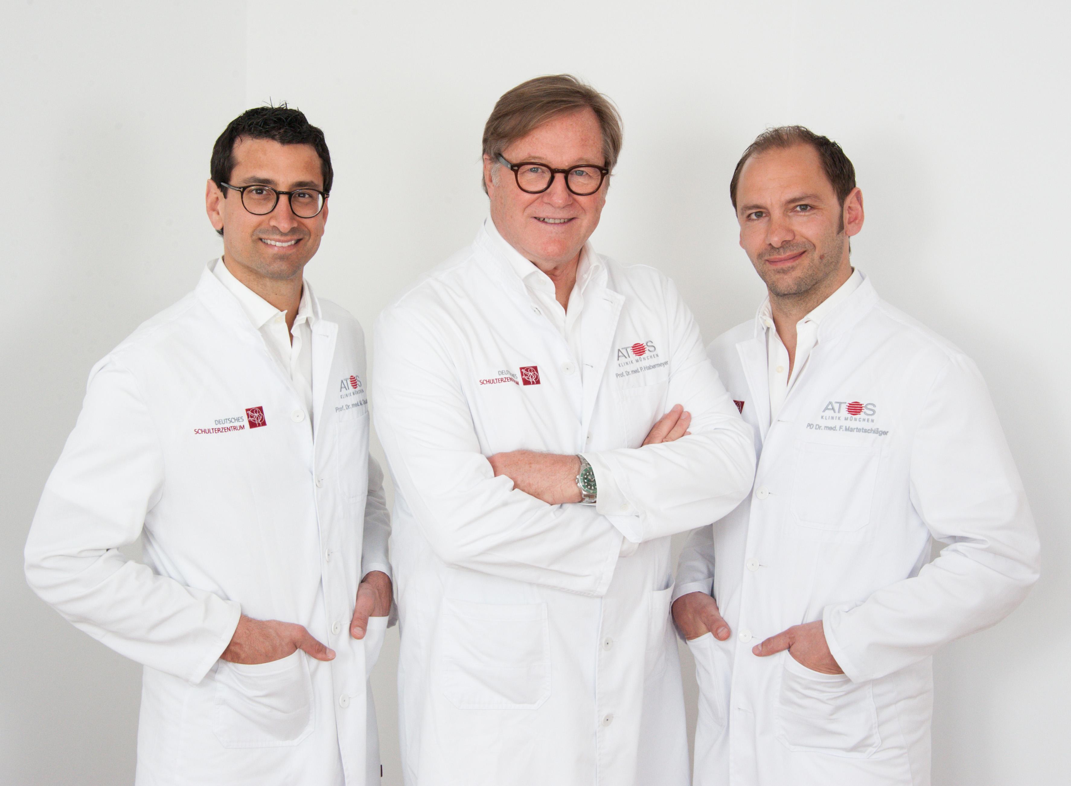 v.l.n.r.: Prof. Dr. med. univ. Mark Tauber, Prof. Dr. med. habil. Peter Habermeyer und Priv.-Doz. Dr. med. Frank Martetschläger