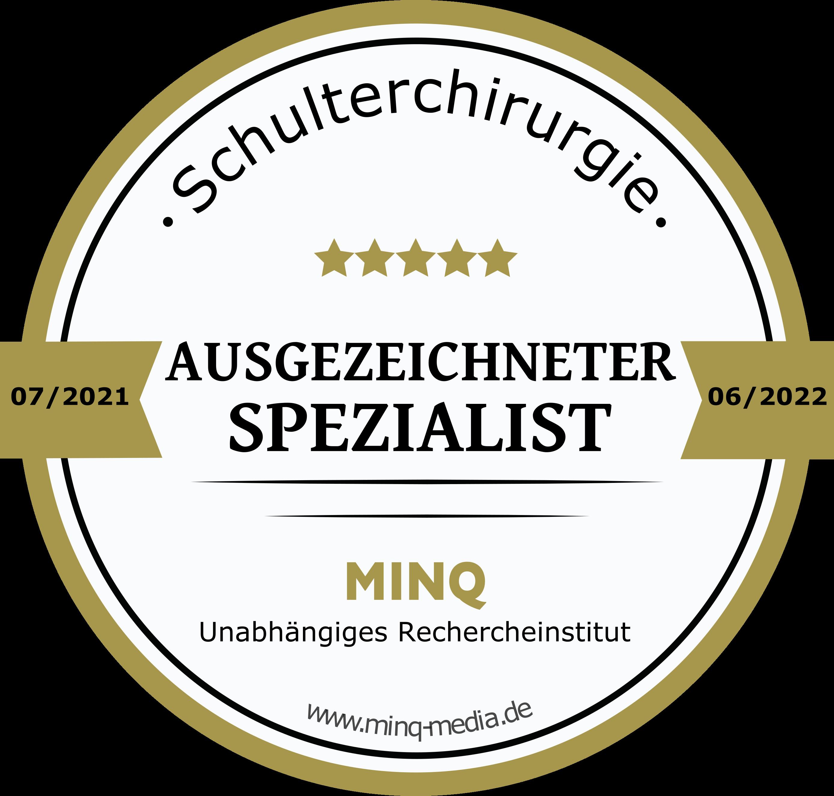 Schulterchirurgie - Prof. Tauber - Ausgezeichneter Spezialist - MINQ