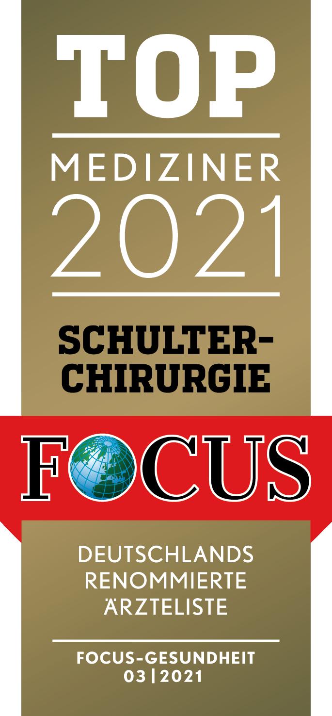 Schulterchirurgie - Prof. Tauber - Prof. Martetschläger - Focus Top-Mediziner 2021 Deutschland