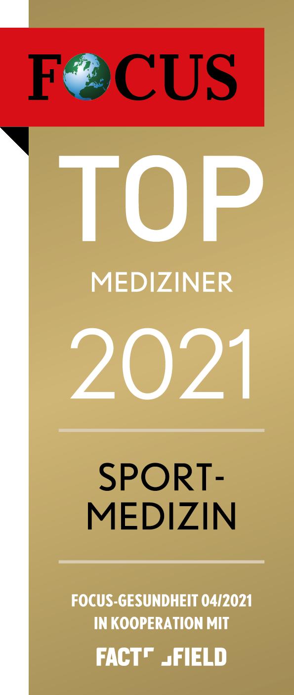 Sportmedizin Prof. Martetschläger Focus Top Mediziner 2021 Deutschland