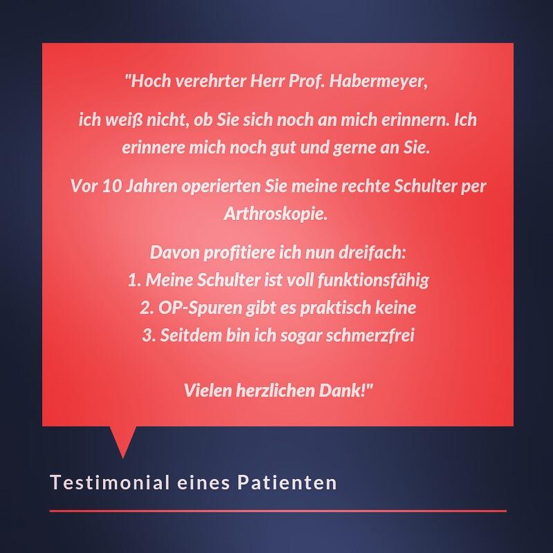 Testimonial eines Patienten